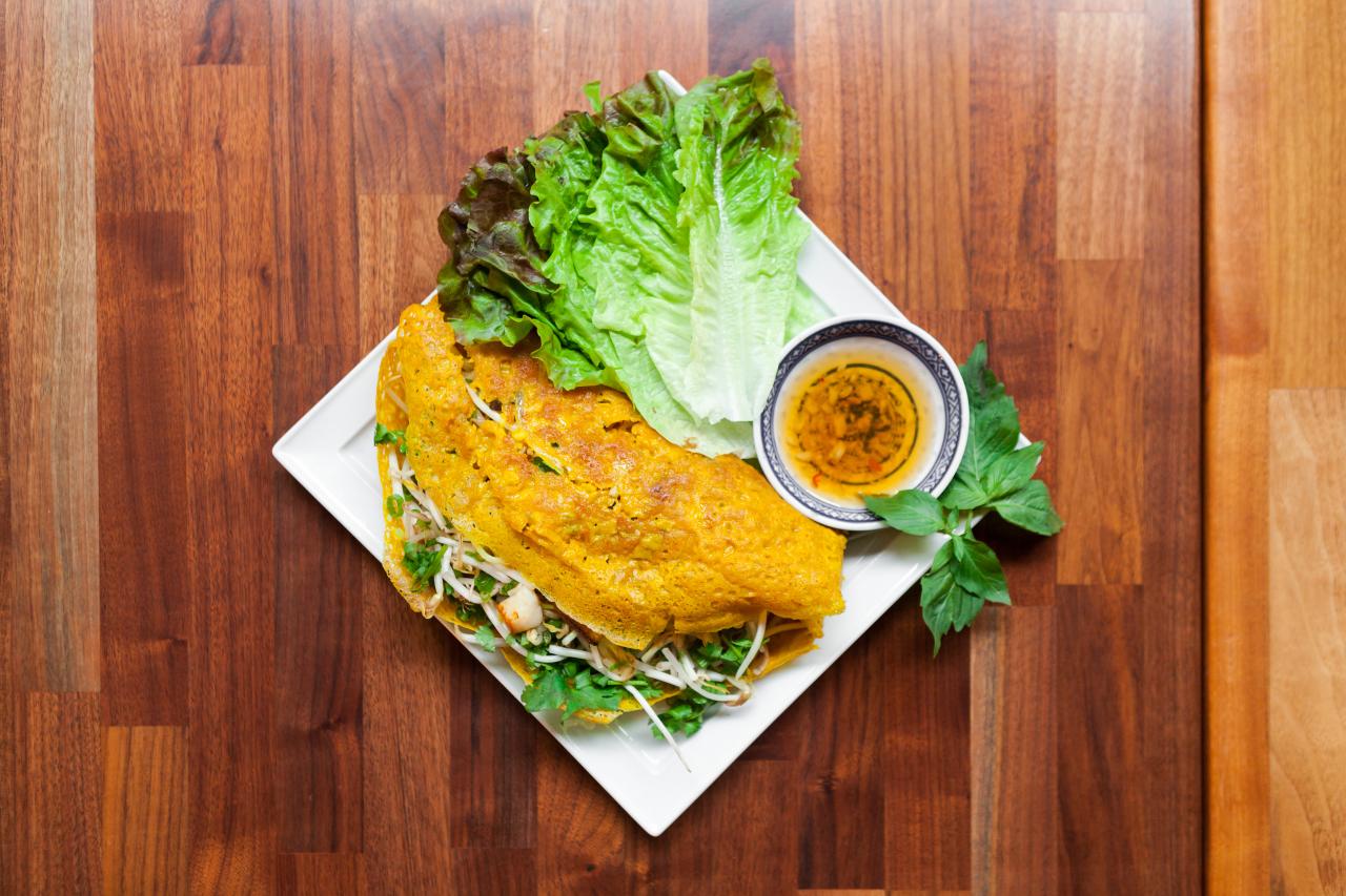 Sizzling Vietnamese Crepe